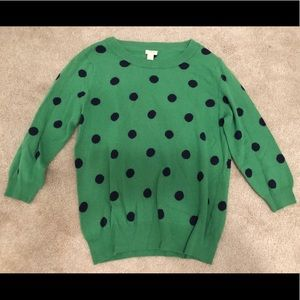 J Crew polka dot sweater size Large